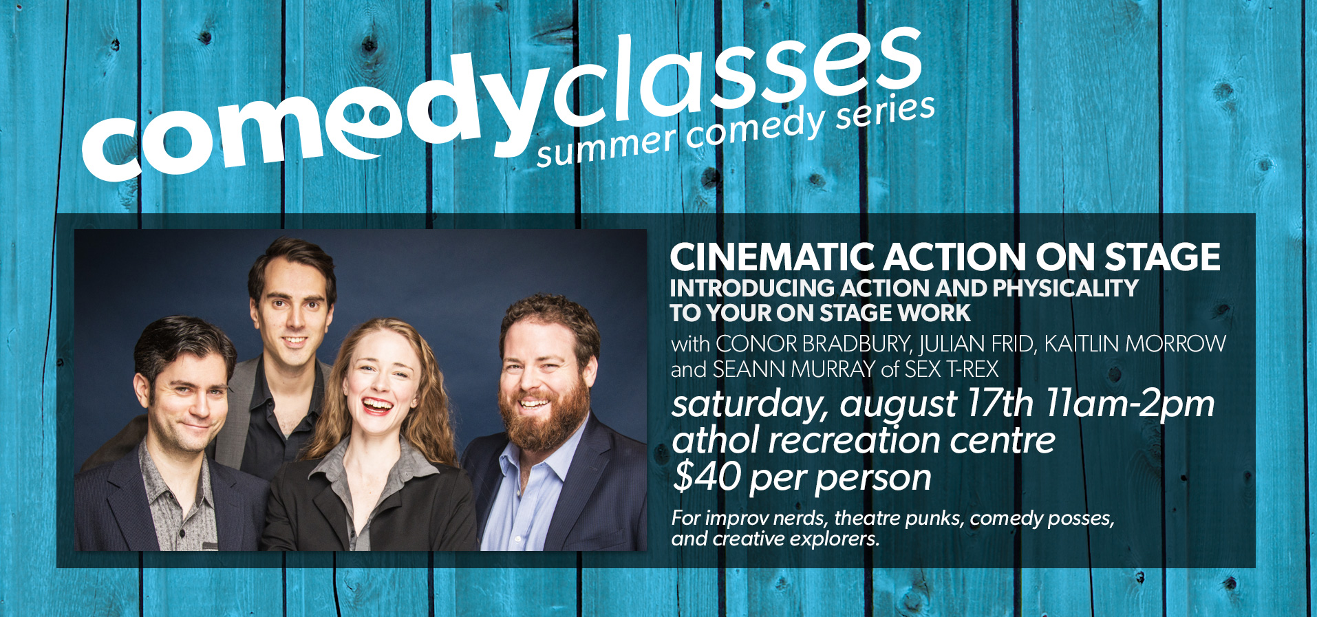 Comedy Classes: Cinematic Action on Stage