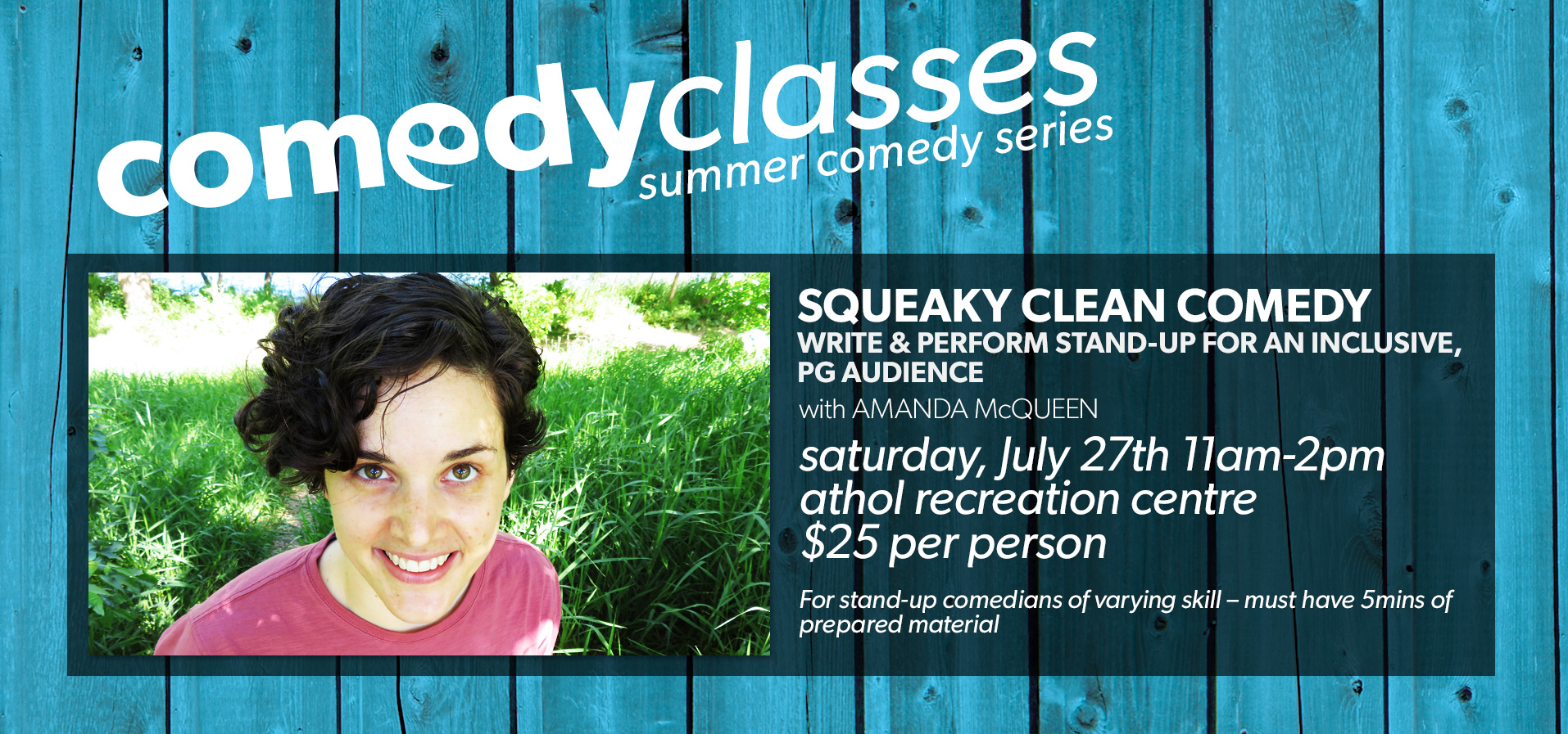 Comedy Classes: Squeaky Clean Comedy
