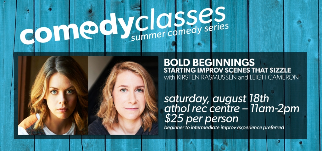 COMEDY CLASSES: Bold Beginnings – Starting Improv Scenes that Sizzle